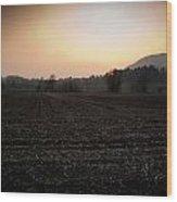 Sunset On The Adda Wood Print