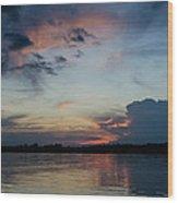 Sunset On The Amazon 3 Wood Print