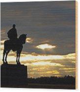 Sunset On The Battlefield Wood Print