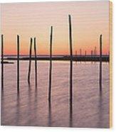 Sunset On The Bay I Wood Print