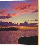 Big Island Sunset - Hawaii Wood Print