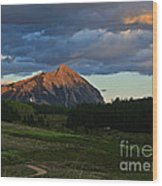 Sunset On The Butte Wood Print
