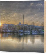 Sunset On The Esifabrik Wood Print by Nathan Wright