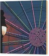 sunset on the Ferris wheel Wood Print