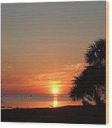 Sunset On The Florida Gulf Wood Print