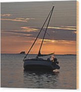 Sunset On The Gulf Wood Print