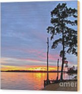 Sunset On The James River Wood Print