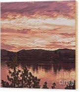 Sunset On The Ohio River  Wood Print
