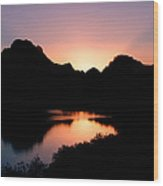 Sunset On The Oxbow Wood Print
