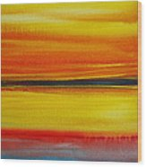 Sunset On The Puget Sound Wood Print