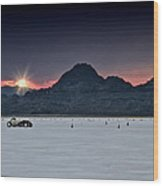 Sunset On The Salt Bonneville 2012 Wood Print by Holly Martin