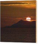 Sunset On The Sea Of Cortez Wood Print by Robert Bascelli