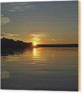 Sunset On The Zambezi 2 Wood Print