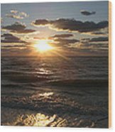 Sunset On Venice Beach  Wood Print