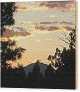 Sunset On Washington Wood Print
