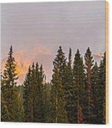 Sunset On West Beckwith Peak Wood Print