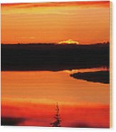 Sunset On Whitefish Lake Norhwest Territories Canada Wood Print