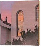 Sunset On Windows Wood Print