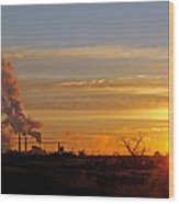 Sunset Out West Wood Print