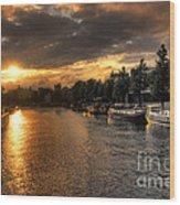 Sunset Over Amsterdam  Wood Print