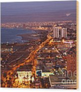 Sunset Over Arica Chile Wood Print