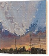 Sunset Over Bay Point Wood Print by Laura Lee Zanghetti