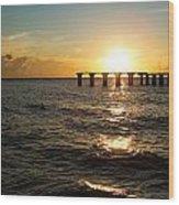 Sunset Over Boca Grande Florida Wood Print