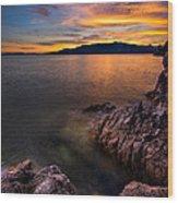 Sunset Over Bowen Island Wood Print by Alexis Birkill