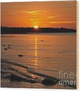 Sunset Over Brewster Flats Wood Print