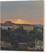 Sunset Over Budapest Wood Print