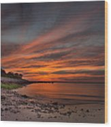 Sunset Over Buzzards Bay Wood Print