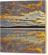 Sunset Over Canobie Lake Wood Print