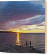 Sunset Over Canso Bay Wood Print