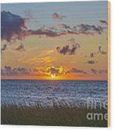 Sunset Over Cape Cod Bay Wood Print