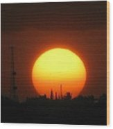 Sunset Over Cudjoe Key Wood Print