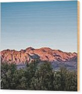 Sunset Over Death Valley Wood Print