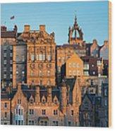 Sunset Over Edinburgh Wood Print
