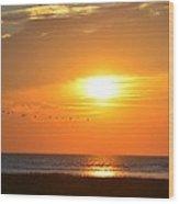 Sunset Over Gray's Beach Yarmouth Cape Cod Wood Print