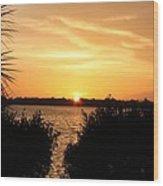 Sunset Over Intercoastal Wood Print