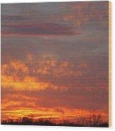 Sunset Over Iowa Wood Print