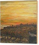 Sunset Over Jerusalem Wood Print