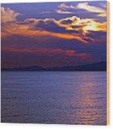 Sunset Over Korcula Wood Print