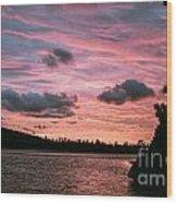 Sunset Over Lake Bailey Wood Print