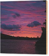Sunset Over Lake Bailey Wood Print