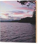 Sunset Over Lake Catchacoma 2 Wood Print