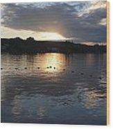 Sunset Over Lake George Wood Print