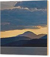 Sunset Over Lake Pend Oreille Wood Print