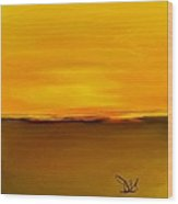 Sunset Over Landscape  #10 Wood Print