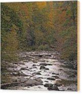 Sunset Over Little River Wood Print