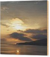 Sunset Over Loch Broom Wood Print by Ed Pettitt